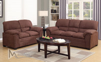 Bravo Truffle soft fabric casual style plush couch Brown