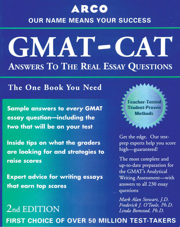 GMAT-CAT Answers to Real Essay Questions