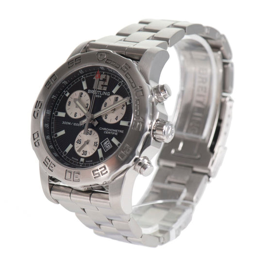 Breitling Colt Chronograph ll A73387 Steel & Black Dial 43mm Mens Watch
