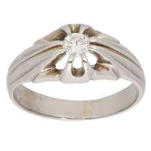 Load image into Gallery viewer, 18ct White Gold 0.25ct Round Cut Diamond Ladies Solitaire Ring Size Q