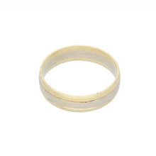 Load image into Gallery viewer, 9ct Bicolour Gold Mens Plain Wedding Ring Size X