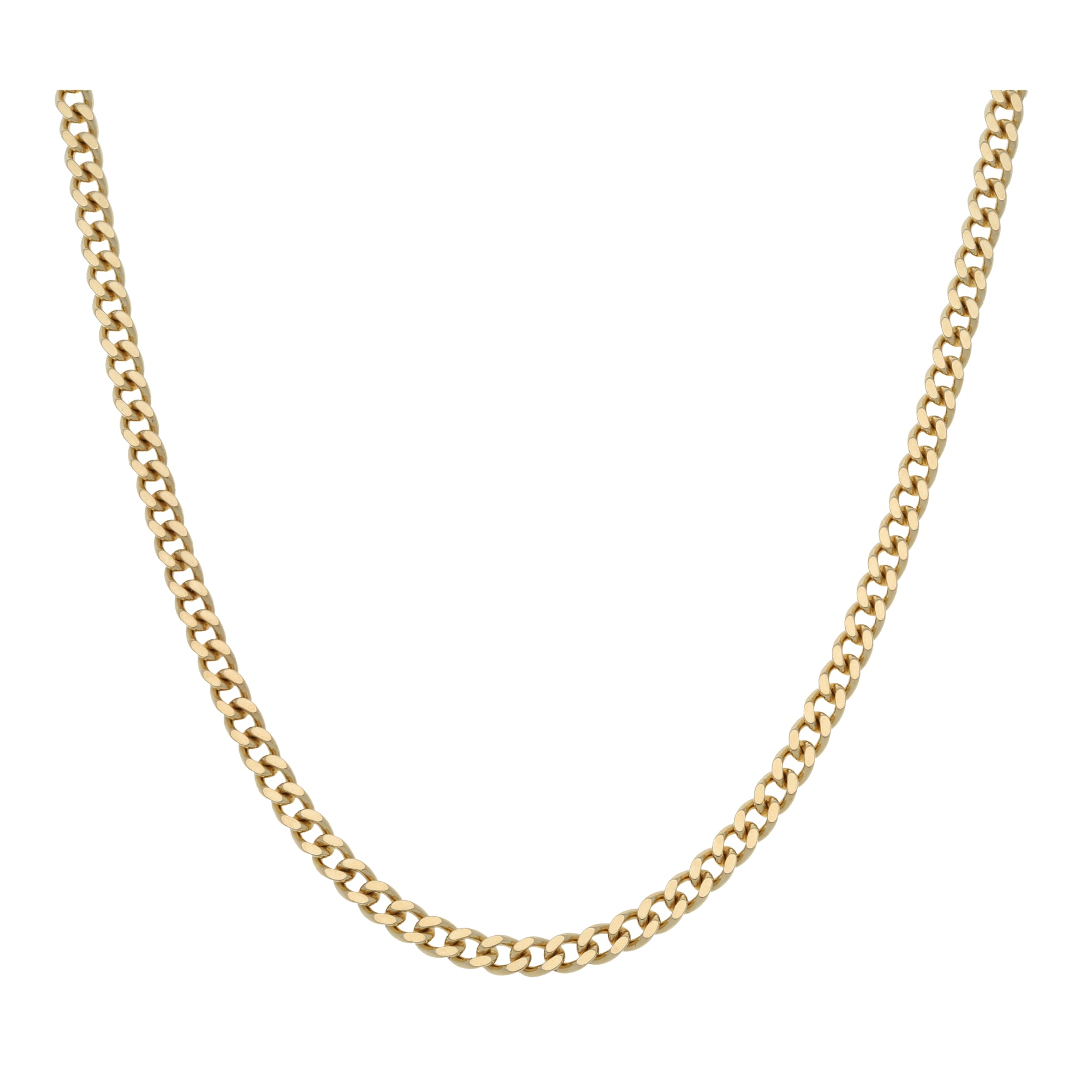 9ct Gold Unisex Curb Chain 24