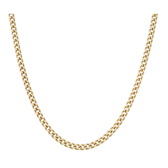 9ct Gold Unisex Curb Chain 24""