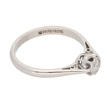 Load image into Gallery viewer, 18ct White Gold 0.15ct Round Cut Diamond Ladies Solitaire Ring Size N
