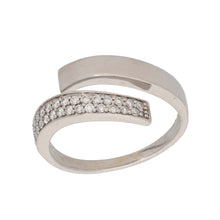Load image into Gallery viewer, 18ct White Gold 0.01ct Round Cut Diamond Ladies Dress/Cocktail Ring Size M