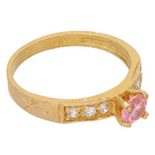 Load image into Gallery viewer, 22ct Gold Cubic Zirconia Ladies Dress/Cocktail Ring Size O