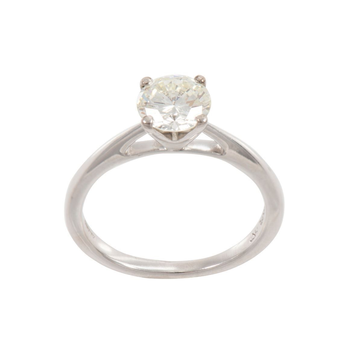 18ct White Gold 1.2ct Diamond Solitaire Ring Ladies Size N