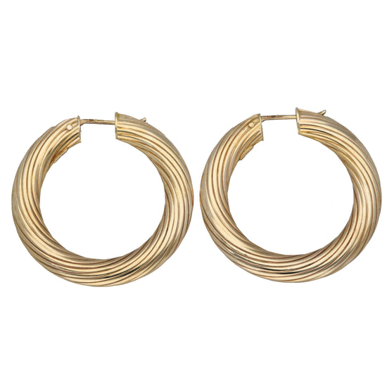 9ct Gold Ladies Creole Earrings