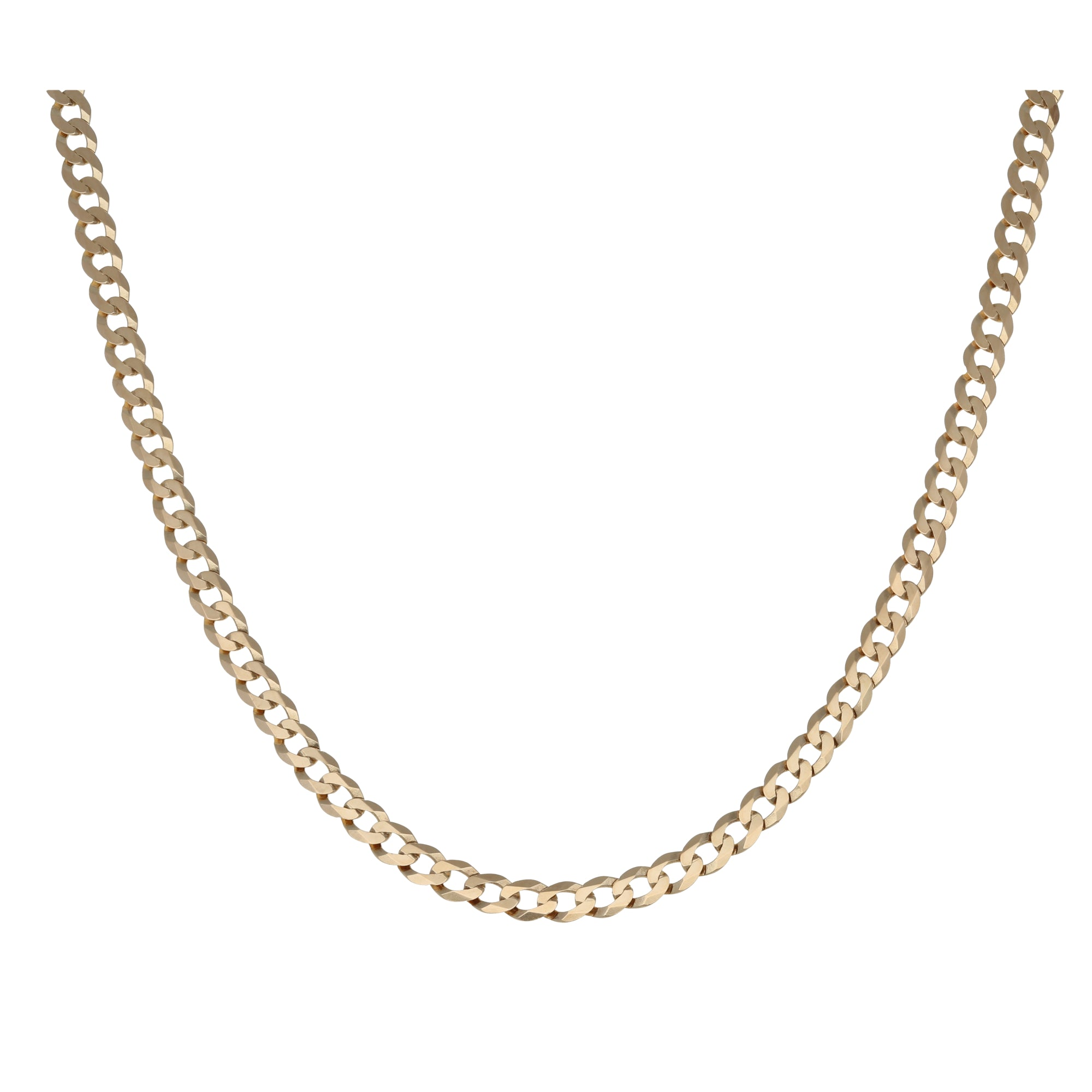 9ct Gold Ladies Curb Chain 28