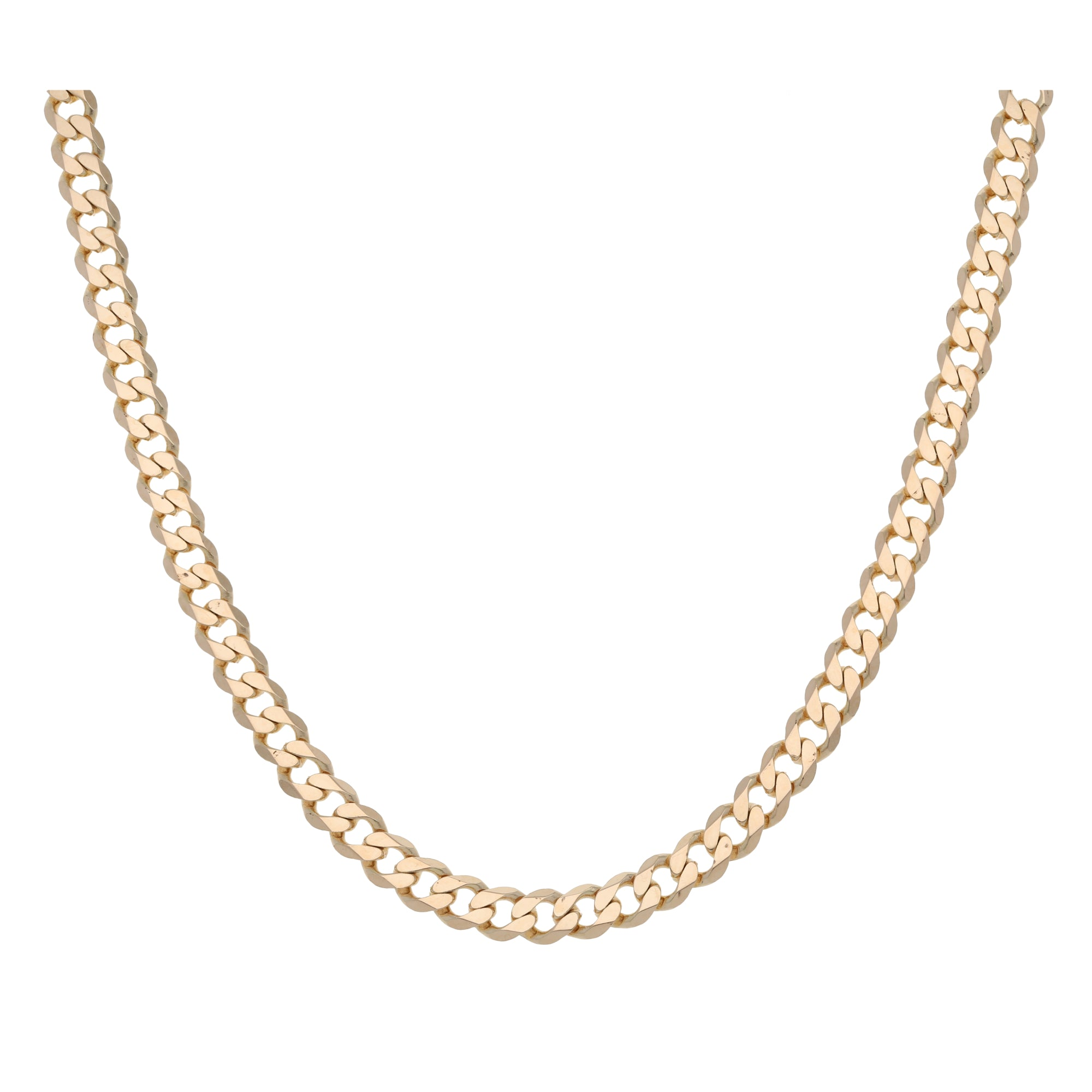 9ct Gold Ladies Curb Chain 20