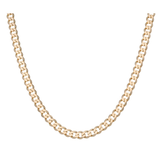 9ct Gold Ladies Curb Chain 20""