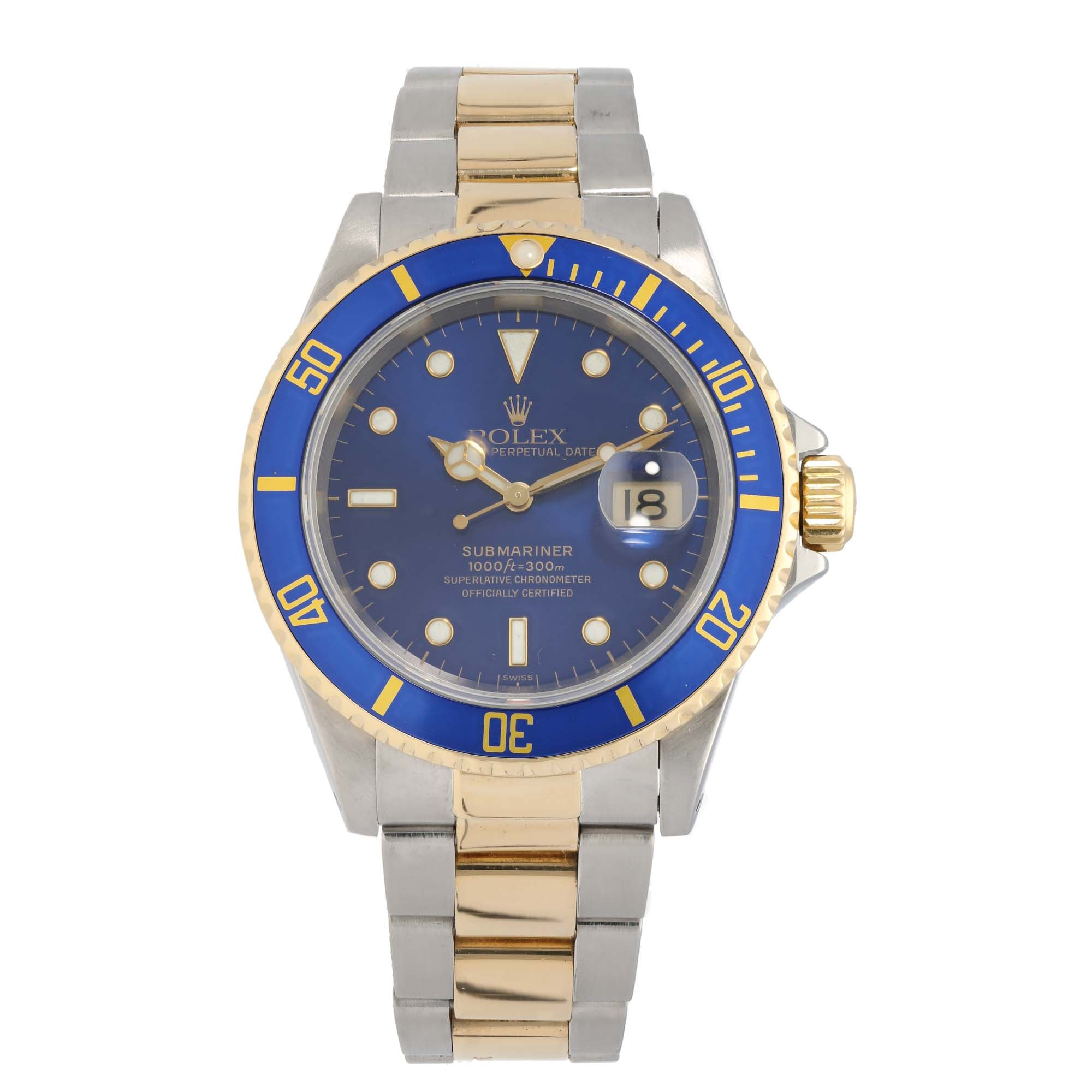 Rolex Submariner 16613 40mm Bi-Colour Mens Watch
