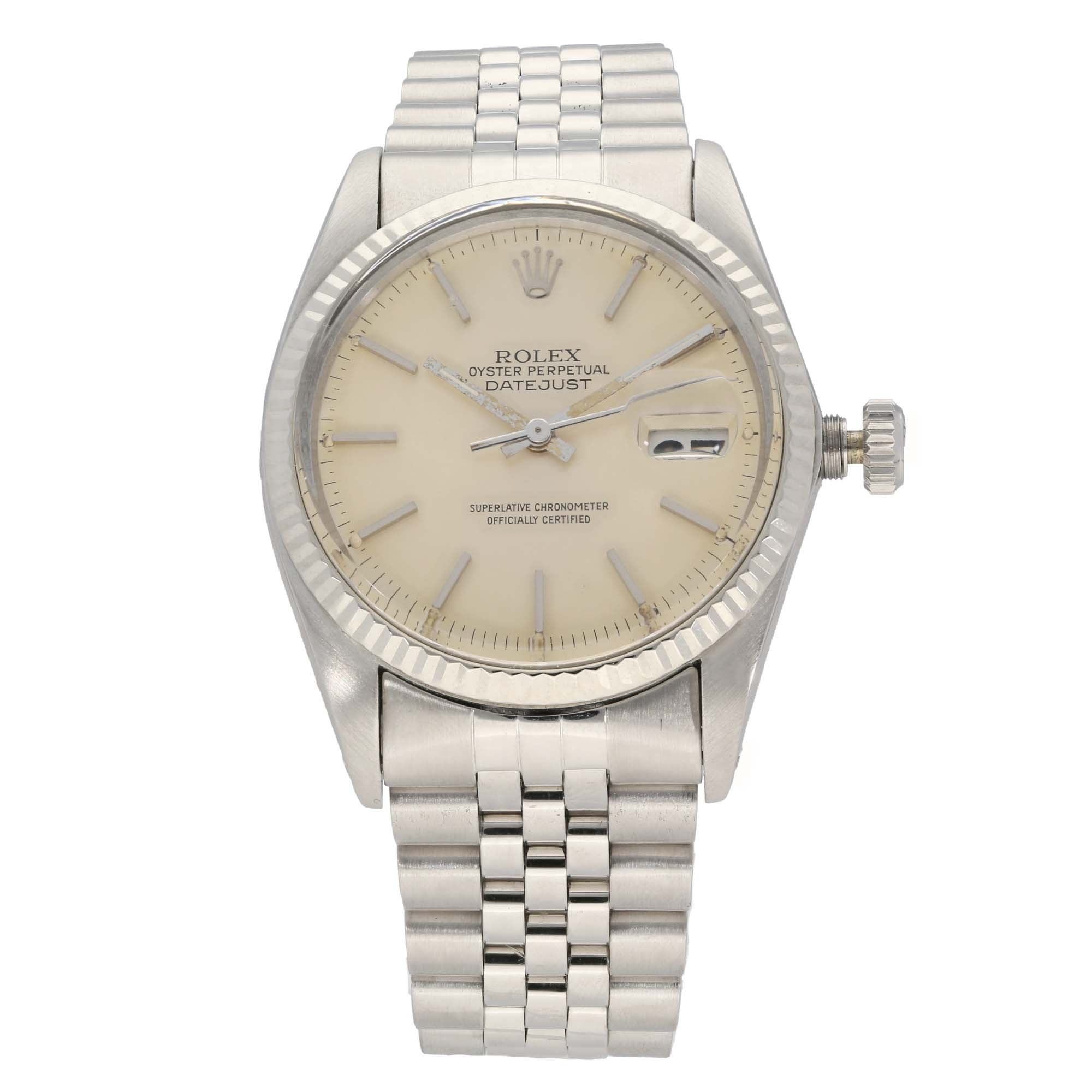 Rolex Datejust 16014 36mm Stainless Steel Mens Watch