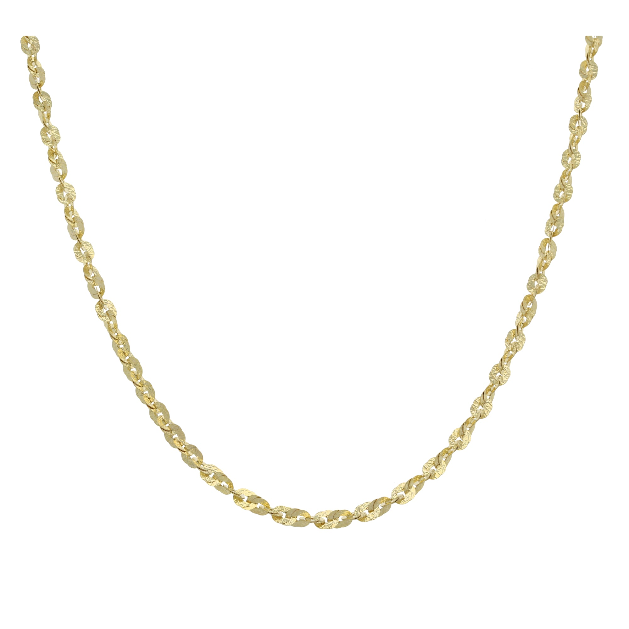 9ct Gold Ladies Fancy Necklace 20