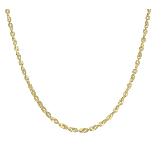 9ct Gold Ladies Fancy Necklace 20""