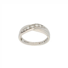 Load image into Gallery viewer, 9ct White Gold Diamond Ladies Half Eternity Ring Size O