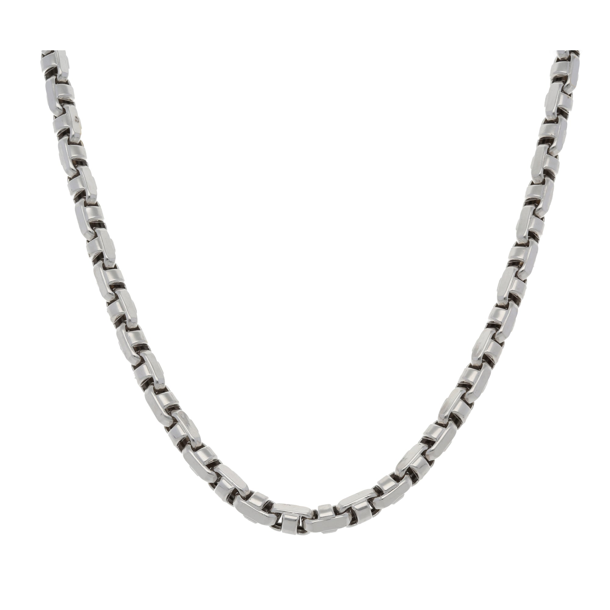 9ct White Gold Ladies Fancy Necklace 22