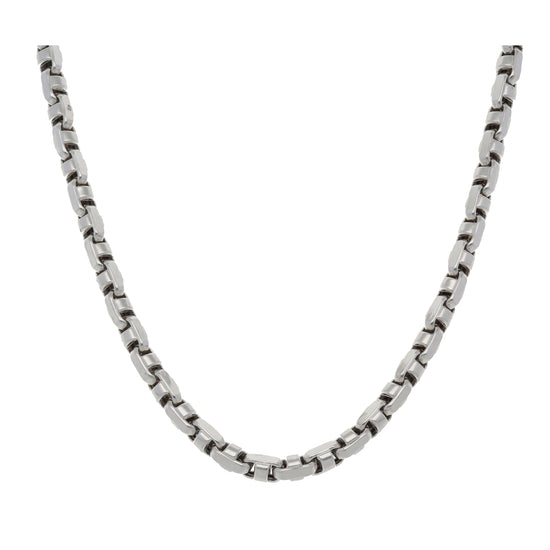9ct White Gold Ladies Fancy Necklace 22""