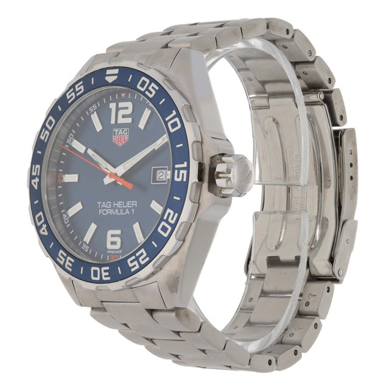 Tag Heuer Formula 1 WAZ1010 43mm Stainless Steel Mens Watch