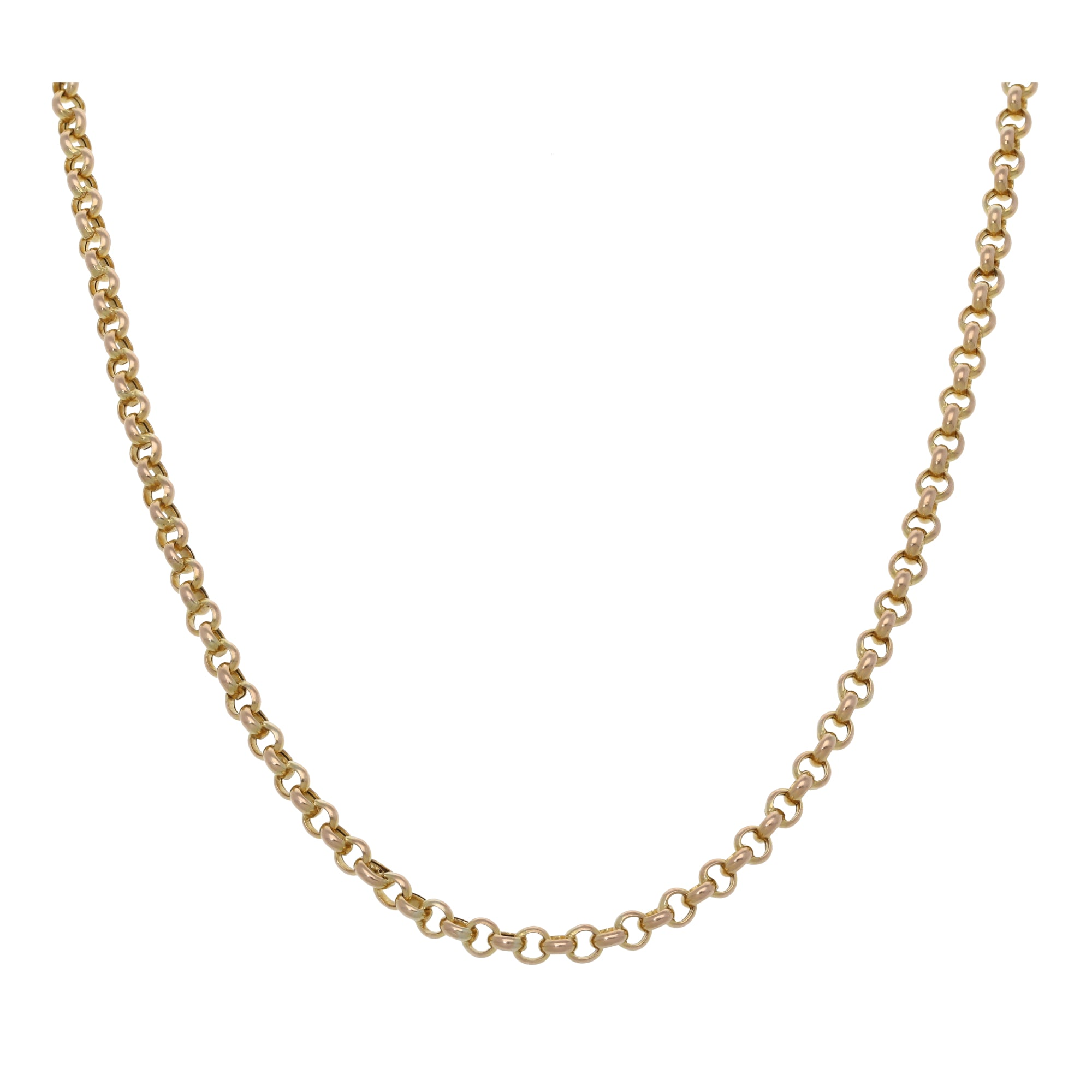 9ct Gold Ladies Belcher Chain 18