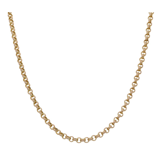 9ct Gold Ladies Belcher Chain 18""
