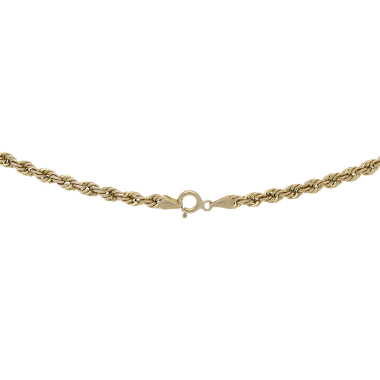 9ct Gold Ladies Rope Chain 20""