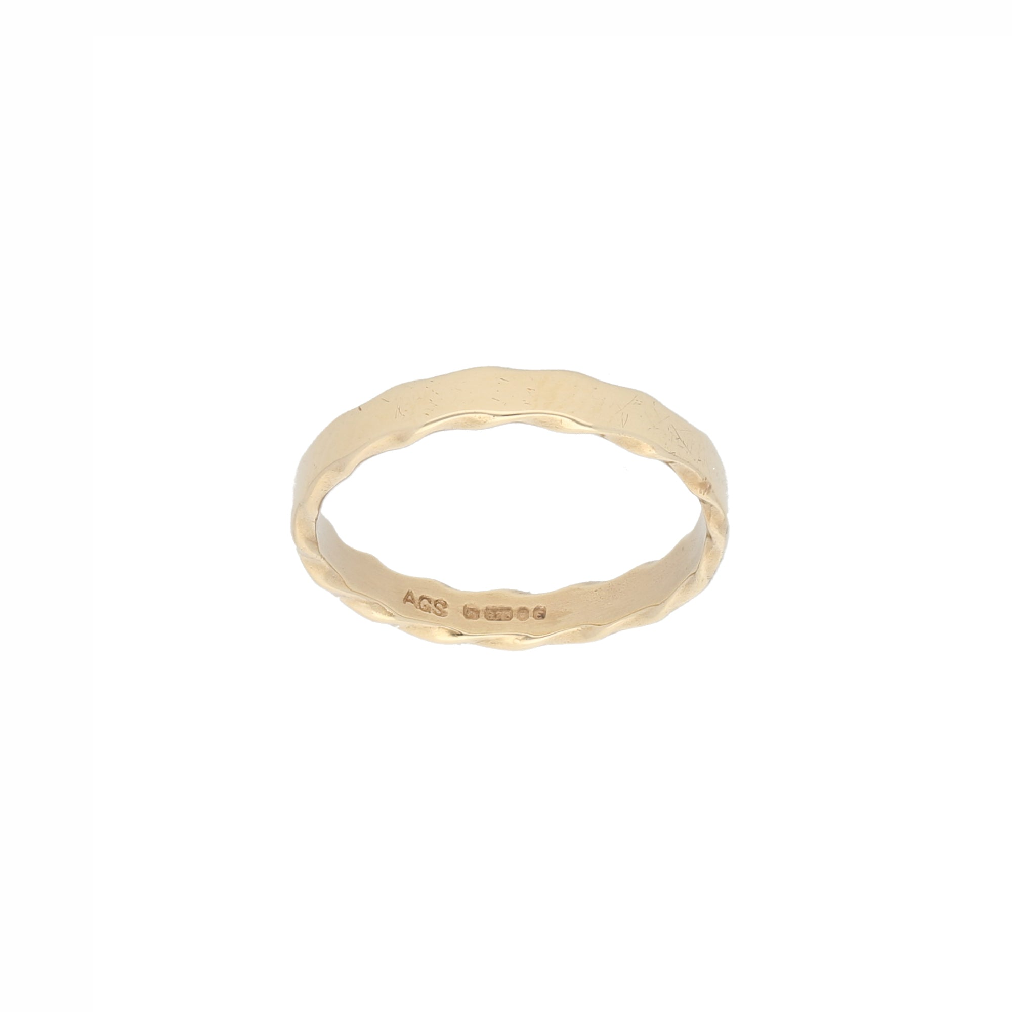 9ct Gold Ladies Alternative Ring Size M