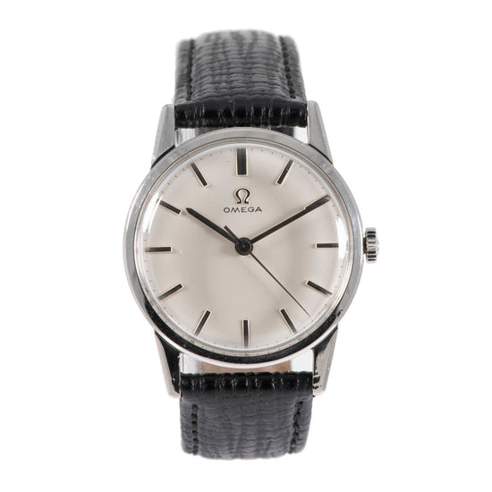 Omega Vintage Stainless Steel & Grey 33mm Mens Watch