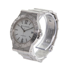 Load image into Gallery viewer, Bvlgari Diagono Quartz LCV35S Stainless Steel Cream Dial 36mm Mens Watch