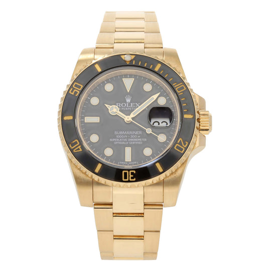 Rolex Submariner 116618 LN 40mm Gold Mens Watch