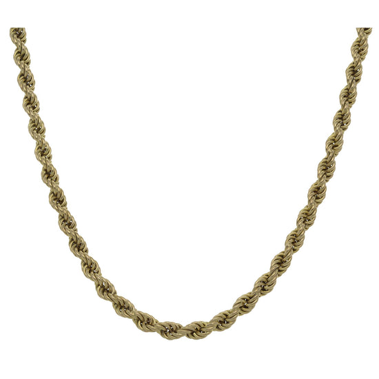 9ct Gold Ladies Rope Chain 30""
