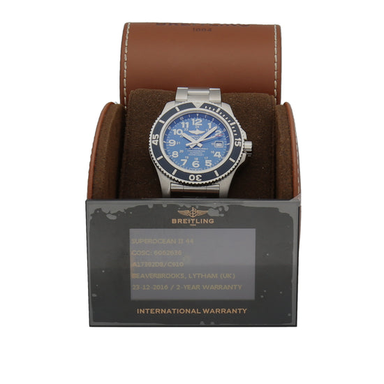 Breitling Superocean A17392 44mm Stainless Steel Mens Watch