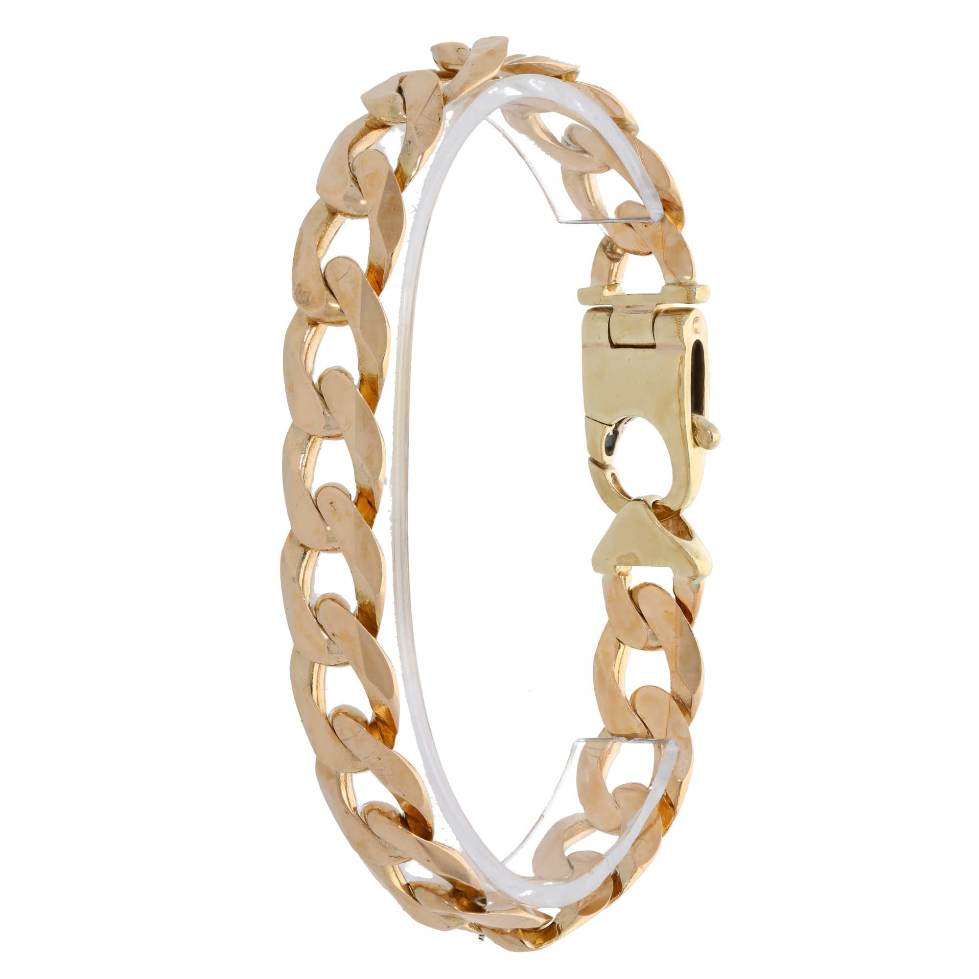 9ct Gold Ladies Curb Bracelet