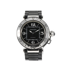 Load image into Gallery viewer, Cartier Pasha 2790 Steel & Black 40.5mm Mens Watch
