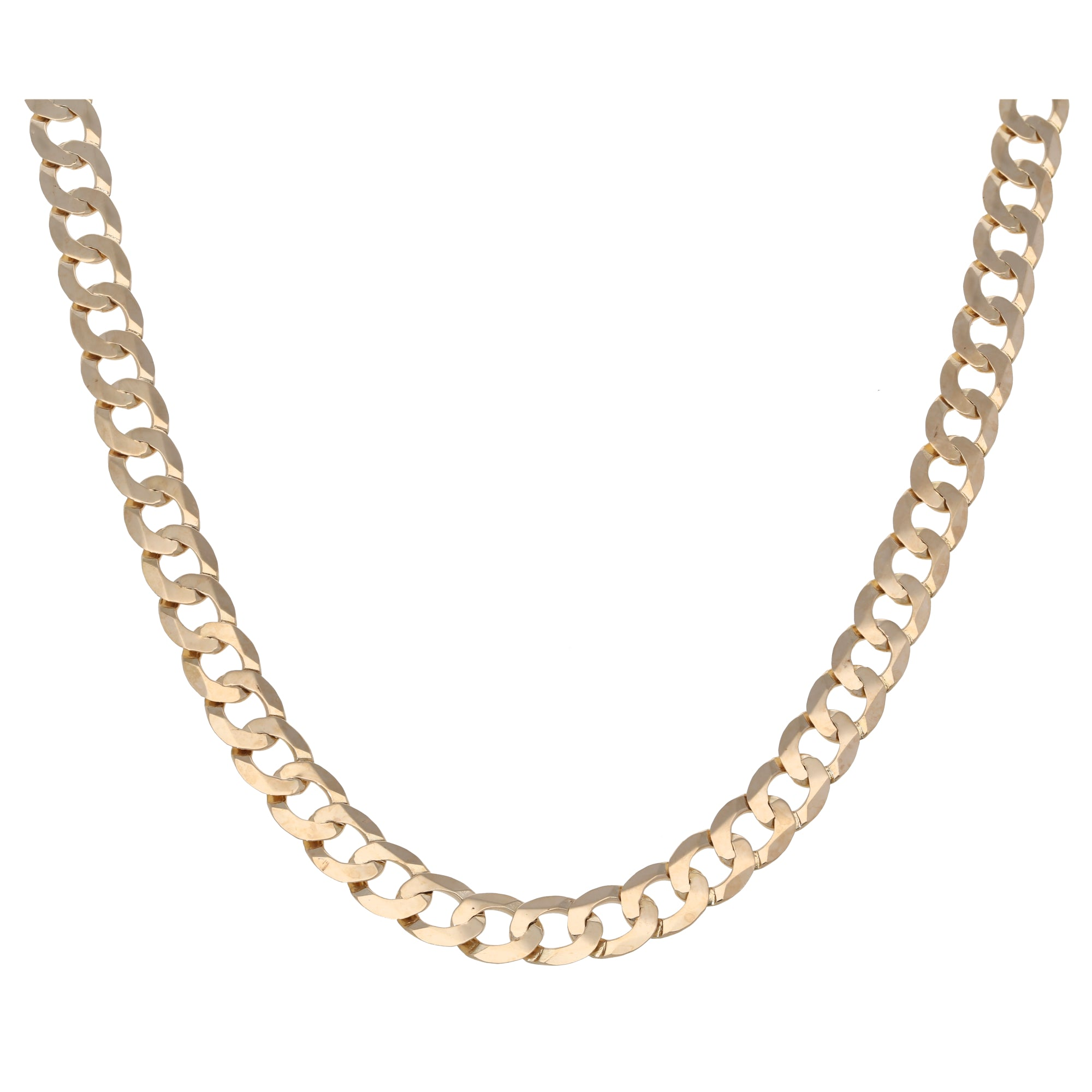 9ct Gold Ladies Curb Chain 22