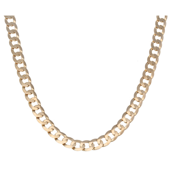 9ct Gold Ladies Curb Chain 22""