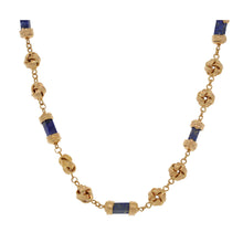 Load image into Gallery viewer, 18ct Gold Lapis Lazuli Ladies Fancy Necklace 16""