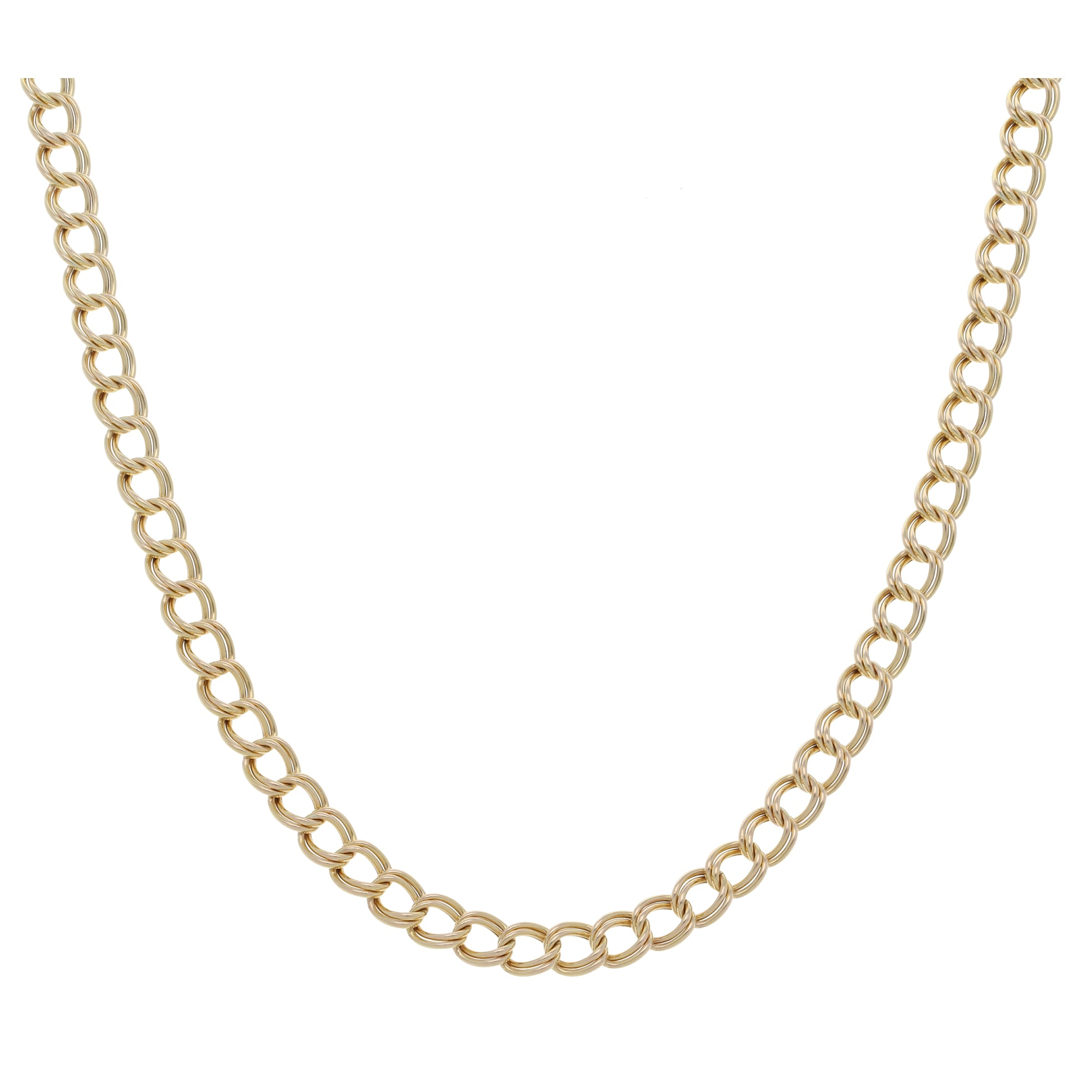 9ct Gold Ladies Double Curb Chain 18