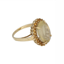 Load image into Gallery viewer, 9ct Gold Citrine Ladies Dress Cocktail Ring Size N