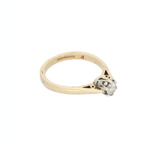 Load image into Gallery viewer, 9ct Gold Diamond Ladies Solitaire Ring Size M
