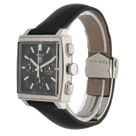 Tag Heuer Monaco CW2111/0 38mm Stainless Steel Mens Watch