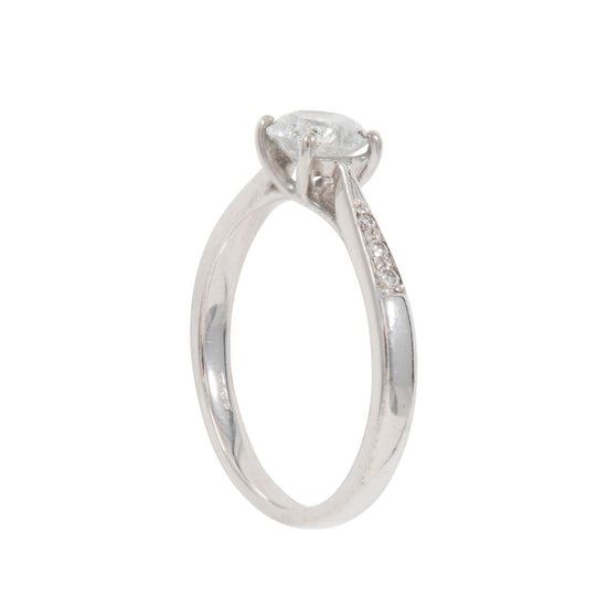 0.84ct Diamond Accent Solitaire Ring (M)