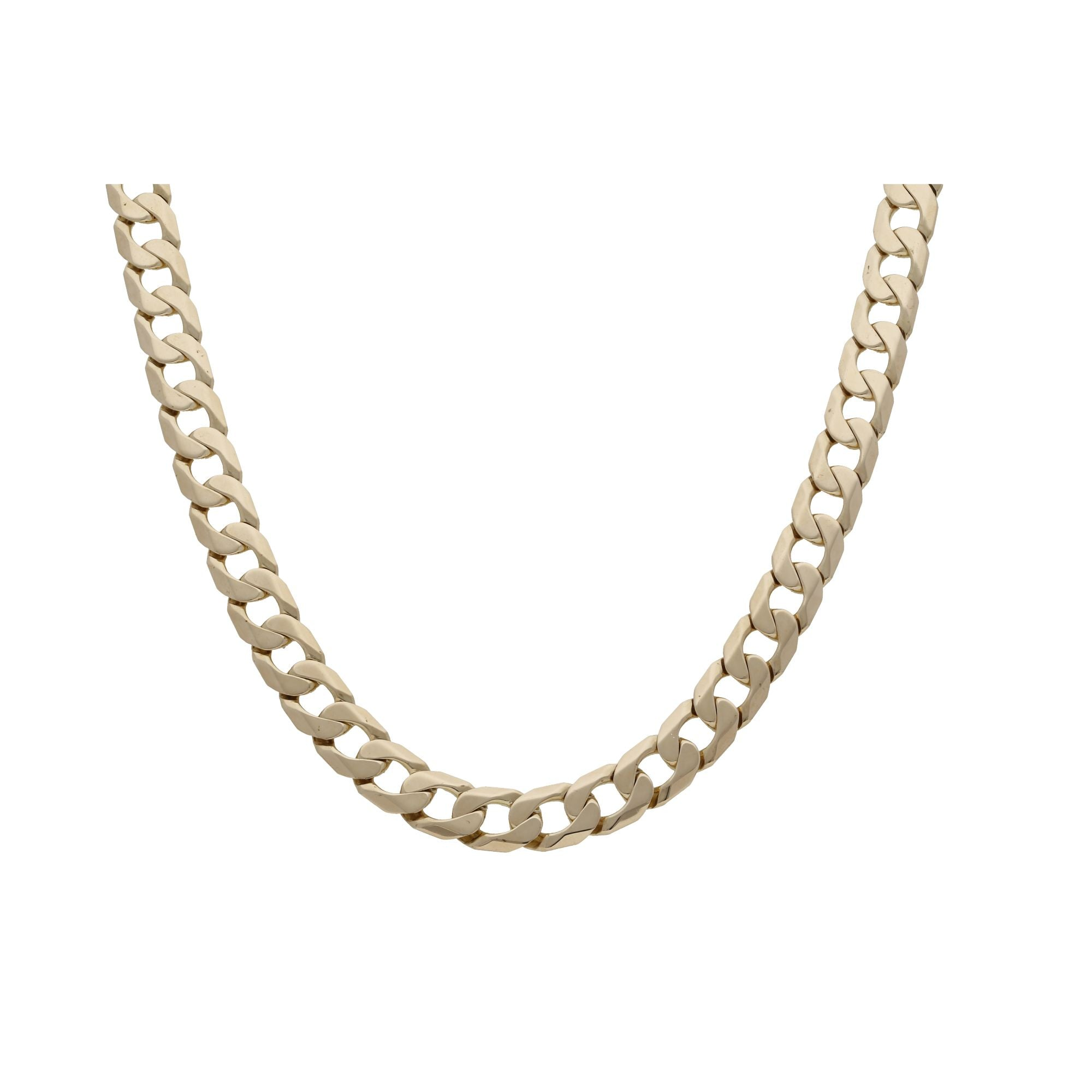 9ct Yellow Gold Curb Chain 20 inches