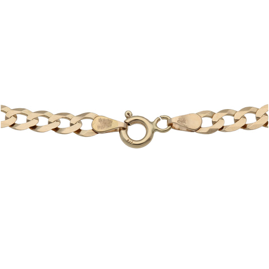 9ct Gold Ladies Curb Chain 28""