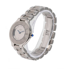 Load image into Gallery viewer, Cartier Must 21 1340 Steel & Grey 28mm Ladies Watch