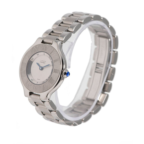 Cartier Must 21 1340 Steel & Grey 28mm Ladies Watch