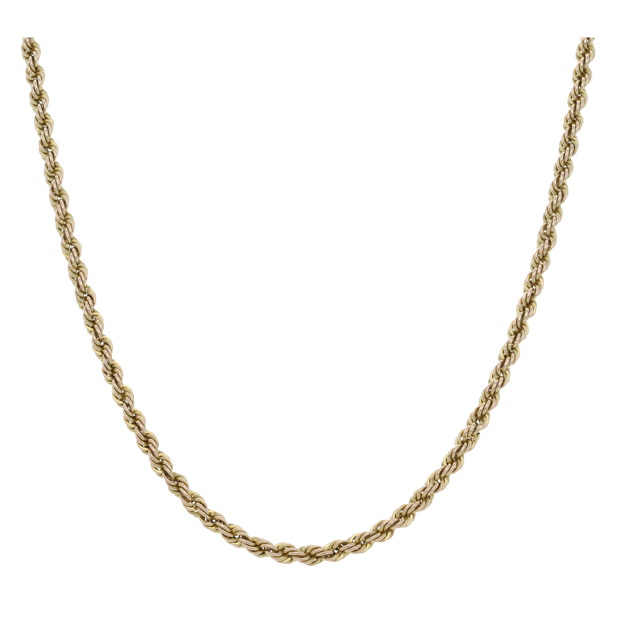 9ct Gold Ladies Rope Chain 20