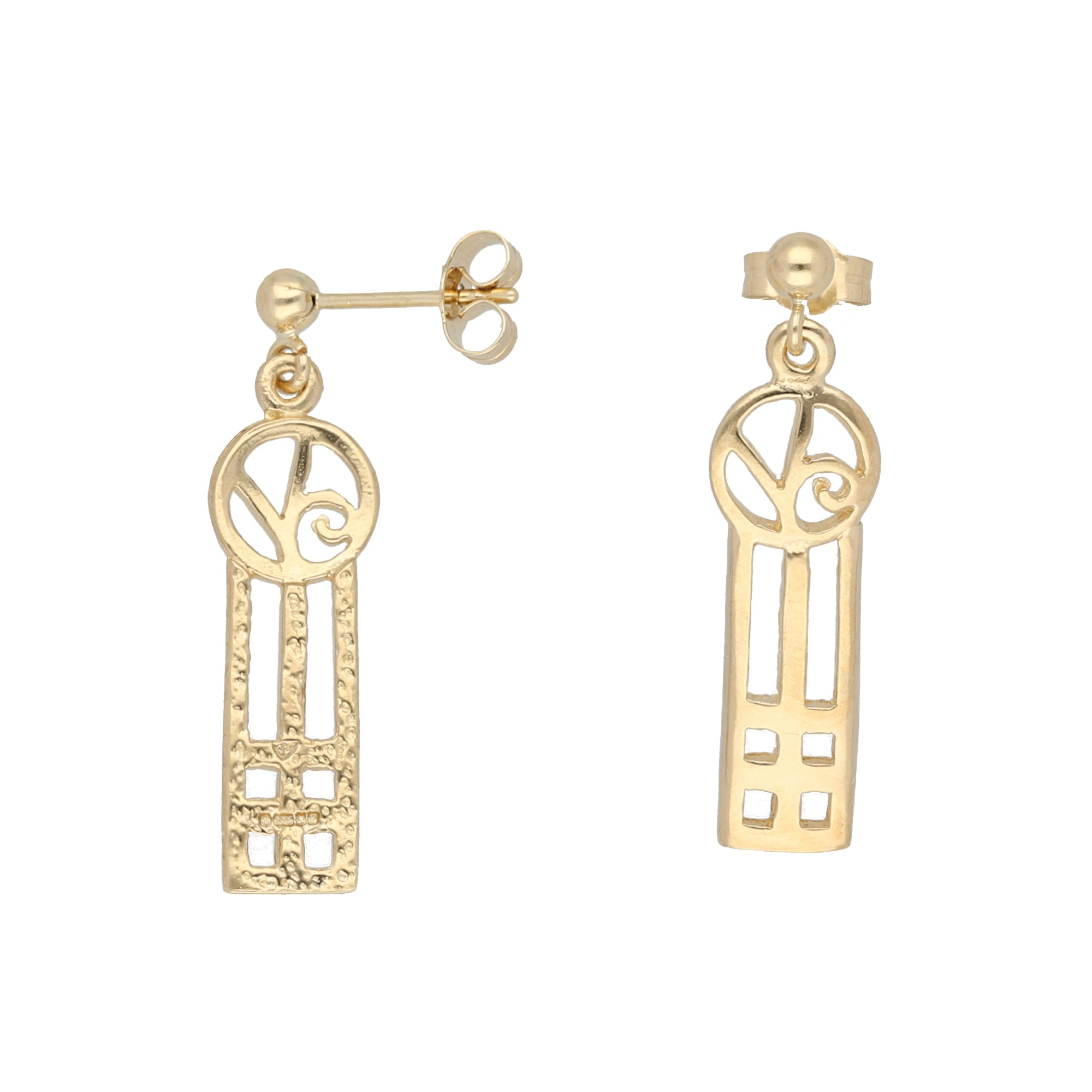 9ct Gold Ladies Drop Earrings