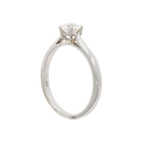 Platinum 0.50ct Diamond Solitaire Ladies Ring Size O