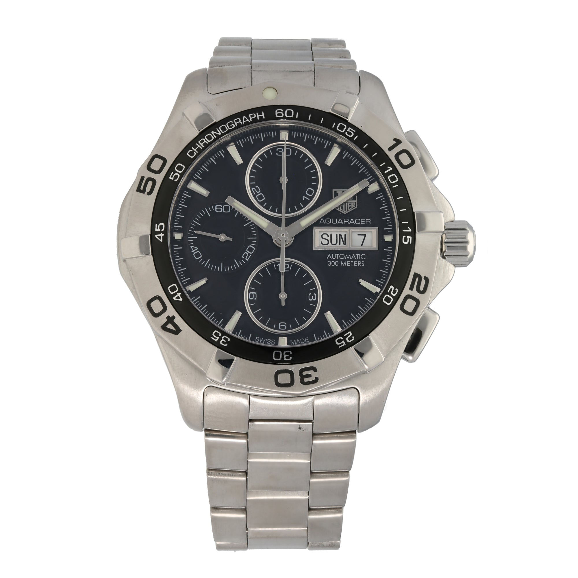 Tag Heuer Aquaracer CAF2010 44mm Stainless Steel Mens Watch